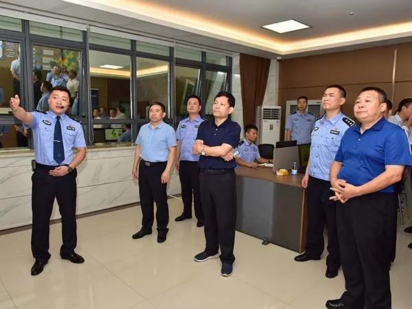 段国华同志到雨湖公安督导调研新时代县域警务工作
